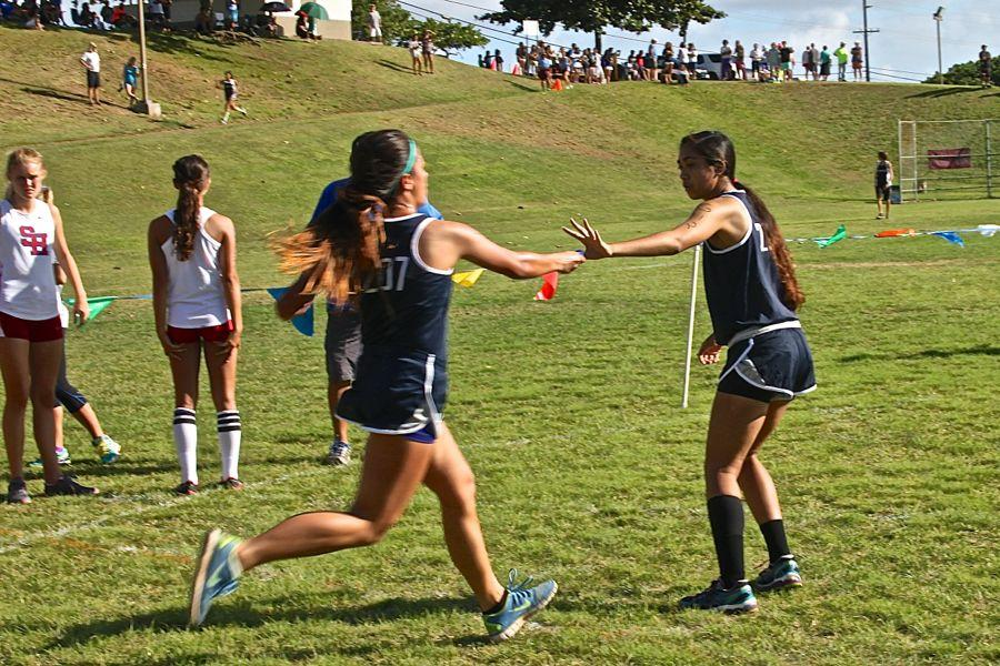 Unusual relay starts cross country season