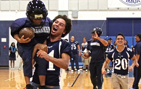 Athletes lead elementary, middle school pep rally
