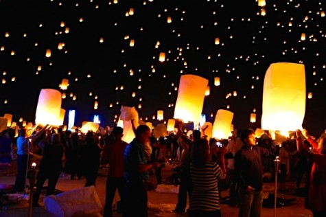 Mojave Desert sky lights up with lanterns