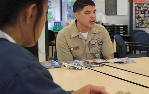 U.S. Naval Recruiter visits campus