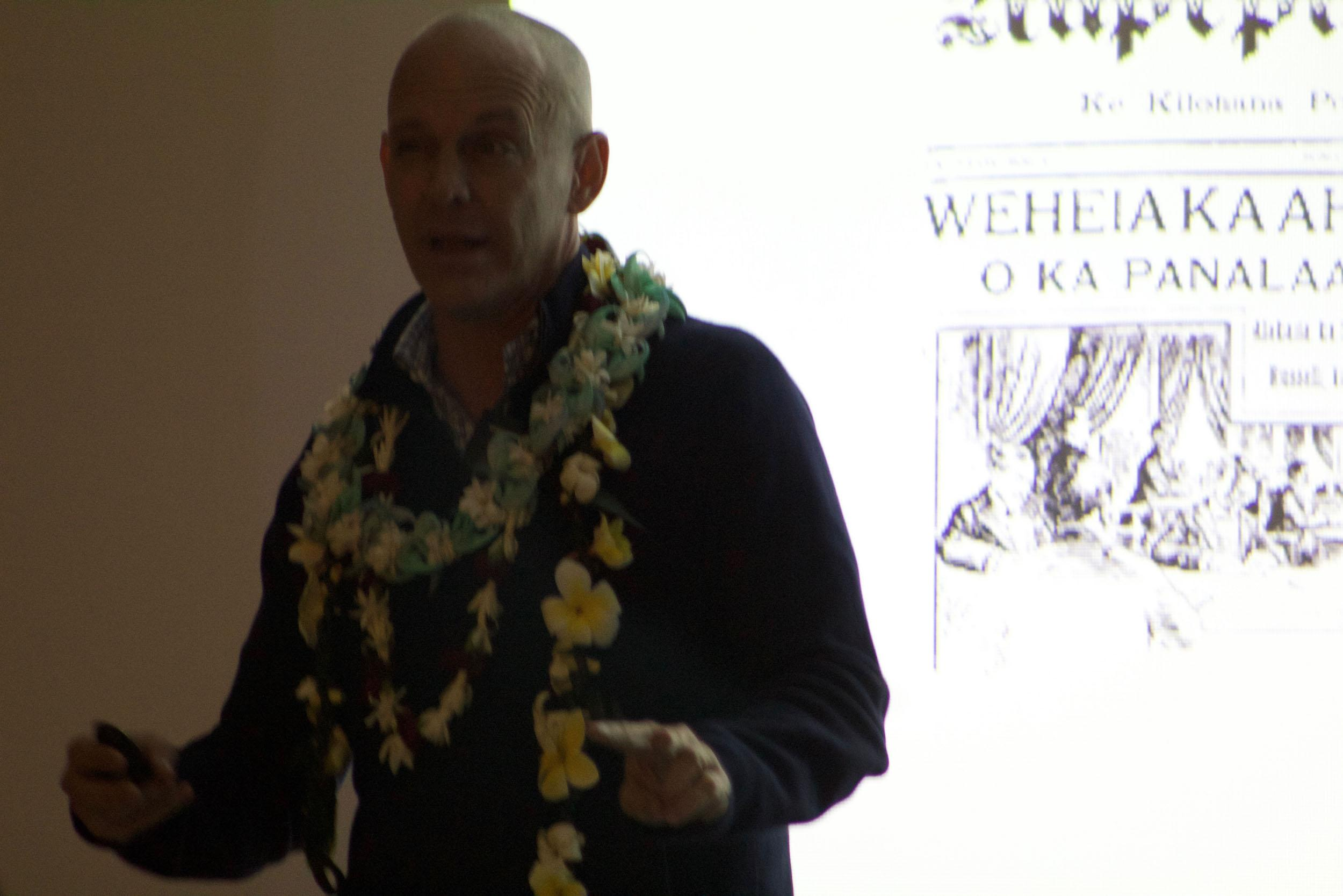Dr. Ronald Williams Jr. presents the issue of Hawaiian history being told by non-Hawaiians. The one hour speech covered many individuals who stood up for their lāhui, as well as individuals who put down the lāhui.
