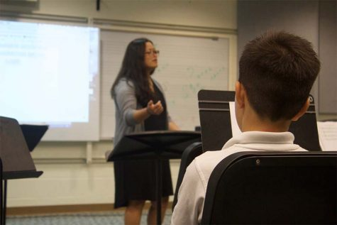 Ms. Kim explains the importance of a tight ʻohana when you join the drumline.