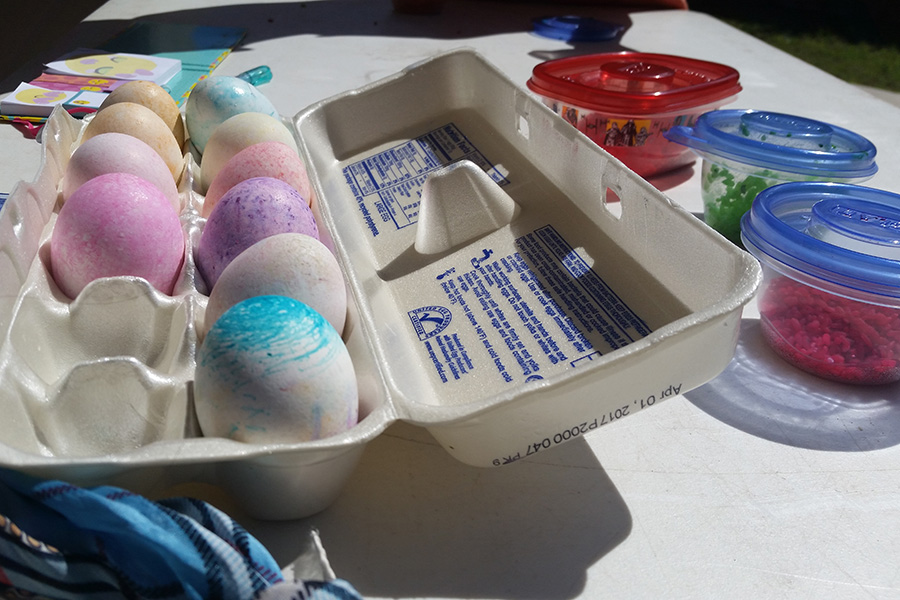 Dying Easter Eggs is a family tradition. This year we used rice to dye our eggs and bonded over the new way to add to our yearly celebration.