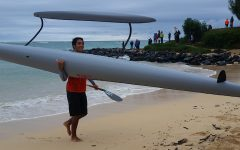 Kahoʻokele-Santos paddles in annual OluKai Hoʻolauleʻa