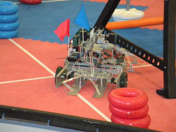 Jahjah the robot competes at the Maui County Fair VEX Robotics tournament on October 2.
