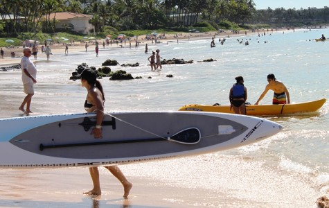 Ms. Ka'awa finishes strong in paddleboard opener