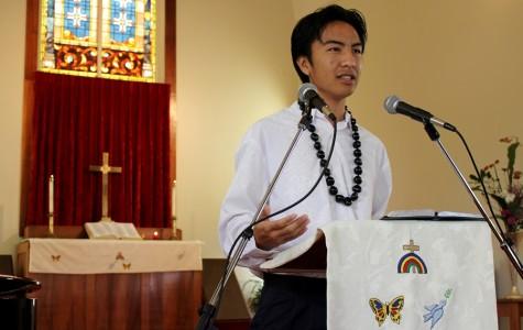 Kim delivers homily, final Deputation Team worship service