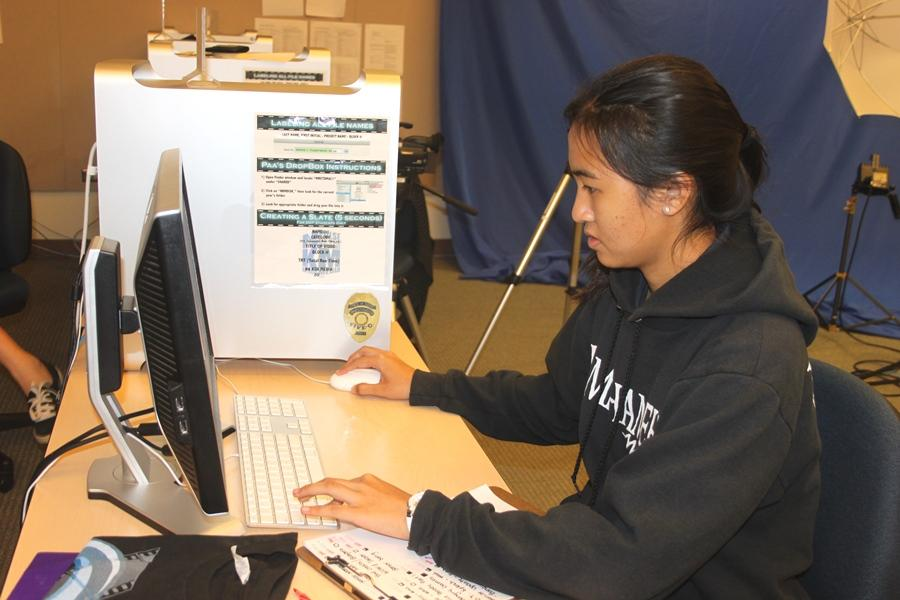 Kelcey Lorenzo hard at work on an upcoming segment in DVP 1.