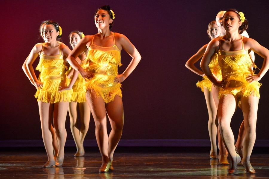 Kamehameha Schools Maui senior Rachel Bega performs