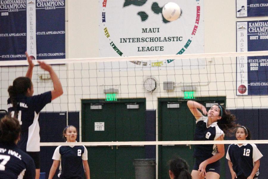 KS Maui JV volleyball girls win against Seabury Hall