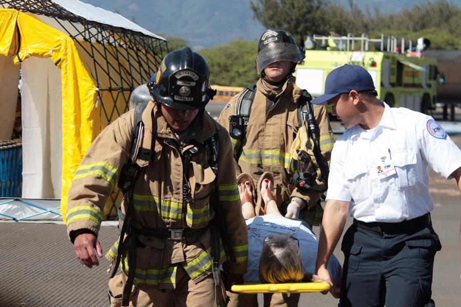 Kahului Airport uses student 'victims' for mock emergency