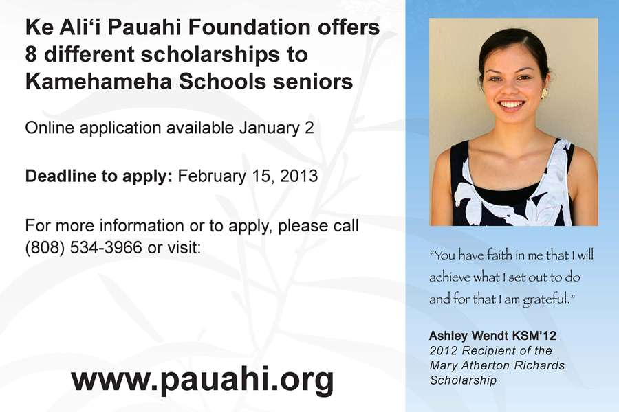 Ke+Ali%27i+Pauahi+Scholarships+applications+open+Jan.+2
