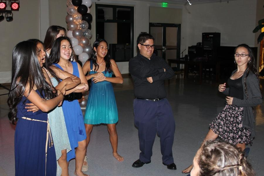 Freshmen join senior Jason Fukushima when he dances to Skrillex's