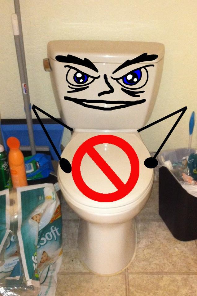 I'm still working on it: Bathroom on strike