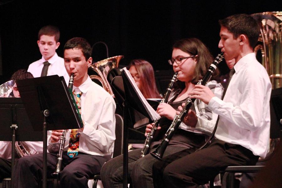 Anela-Britain-Nicholas-Mendez-and-Jorden-Nascimento-Takatani-clarinet_Winter-Band-Concert_December+4%2C+2013_web