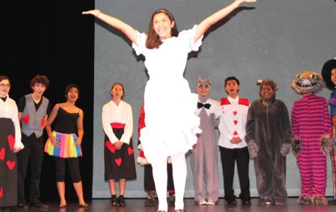 Sophomore Aeris Joseph-Takeshita stars as Alice in the spring musical