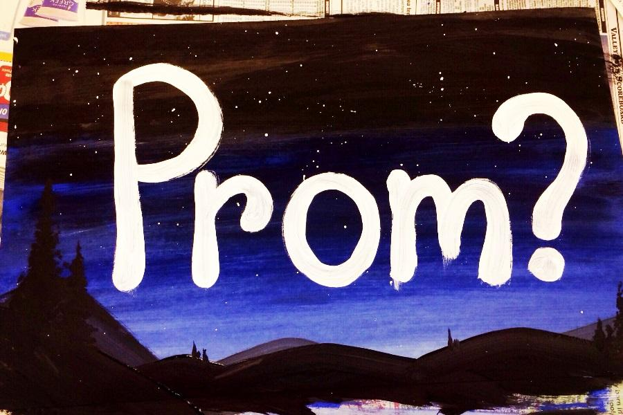 Prom poster made by Damian Kuluhiwa with help from Lilia Lorenzo. Kuluhiwa asked Haley Kalama to prom with the poster. She said yes!
