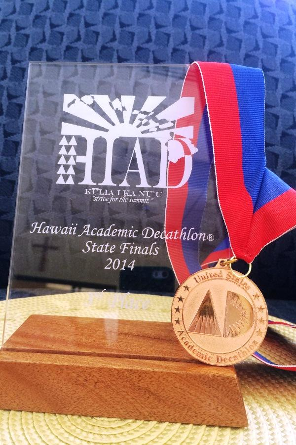 The KS Maui Academic Decathlon team placed third out of five schools competing in Hilo, Feb. 22-23.