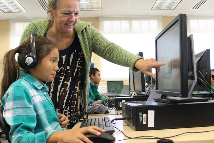 Kumu Julee Kaiaokamalie uses technology, including the Internet, in her middle school classroom. In a recent Pew Research survey, the majority of Americans felt that the Internet has been a good thing for themselves and society as a whole.