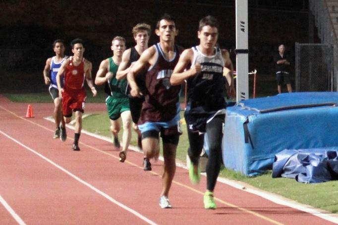 Sophomore+Richard+%22Ikaika%22+Renaud+placed+1st+in+event+and+overall+for+the+1%2C500+meter+run+with+a+time+of+4%3A40.42+time+at+War+Memorial+Stadium+for+the+MIL+Track+and+Field+Championship+Trials.+The+finals+begin+at+4+p.m.+today%2C+April+26%2C+2014.