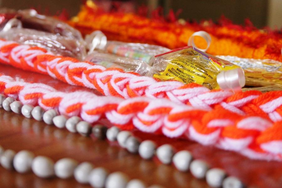 Some+lei+are+ready+for+sale+at+Commencement+2014.+This+Friday+evening%2C+the+class+of+2015+will+be+making+the+last+of+the+lei+that+will+be+sold+as+a+fundraiser+at+a+booth+outside+the+high+school+gym.