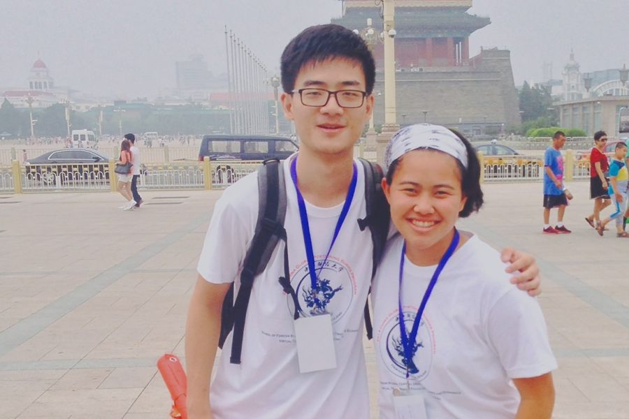 Senior Mikayla Lau spent 12 days in Bejing, China at the Global Positioning Summer program with Chinese student buddy and translator Saul*. The intensive program focused on many aspects of Chinese and global business and economy. *correction 8/22, Saul was previously incorrectly identified.