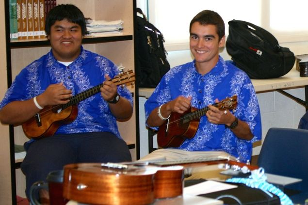 Blake Fukumoto and Richard Renaud are part of the musical talent of the Hawaiian Ensemble. The entertainment group will be performing at the Maui Fair for the first time in their history this Thursday at 7 p.m.