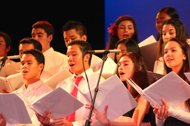 Nā Mele performers got the chance to show off their skills at the Winter Concert held at Kamehameha Maui on Thurday, December 11 after the annual Nā Mele song competition was canceled.