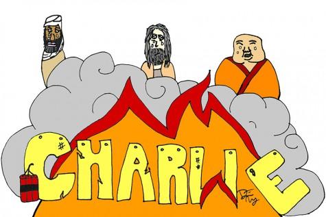 Charlie Hebdo editorial cartoon by Destinee Murray.