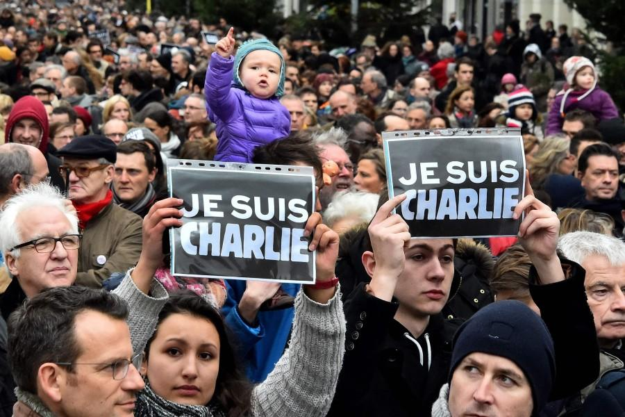 Thousands of people gather during a demonstration march in Lille, France, on Saturday, Jan. 10, 2015, in support of the victims of this week's twin attacks in Paris. Hundreds of extra troops are being deployed aroundParis after three days of terror in the French capital killed 17 people and left the nation in shock. (Patrick Delecroix/Maxppp/Zuma Press/TNS)