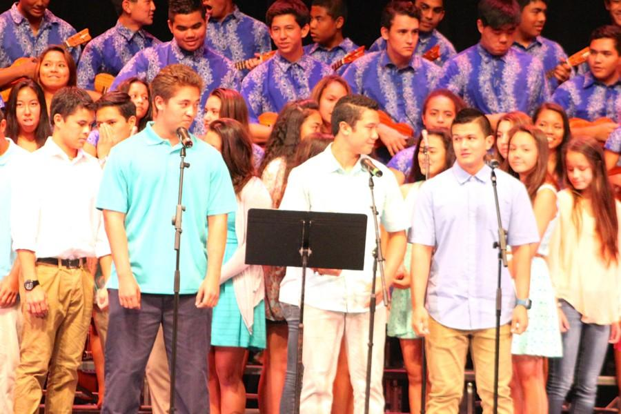 The+final+performance+at+Spring+Concert+2015.+All+the+students%2C+from+choir+to+%27ukulele%2C+performed+%22Home%22+at+Keopuolani+Hale%2C+Thursday%2C+May+7%2C+2015.