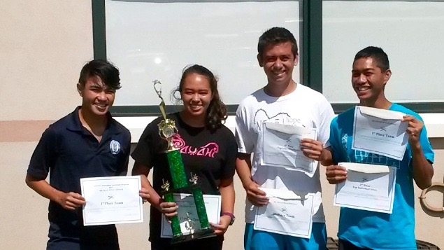 Brendan Otani, Kylie Pastor, Konapiliahi Dancil, and Zachary Luis won the team portion of the competition.