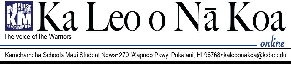 The student news site of Kamehameha Schools Maui
