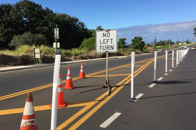 Town bound traffic must use Kula Highway to get to Pukalani or downtown rather than use Old Haleakala Highway.
