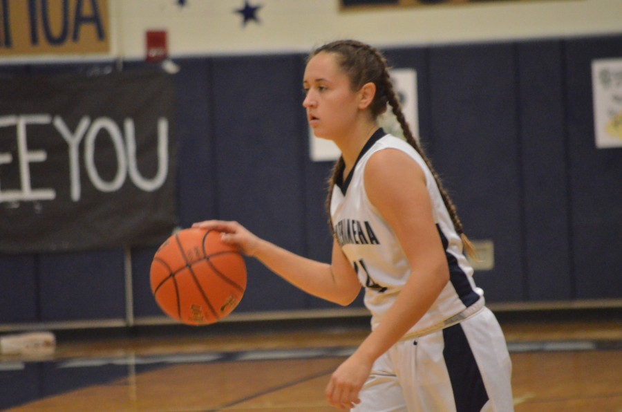 Rebeka Revelle has played varsity basketball for all four years of her high school career. On Senior NIght, Wednesday, Jan. 20, the Warriors narrowly beat King Kekaulike, 45-43.