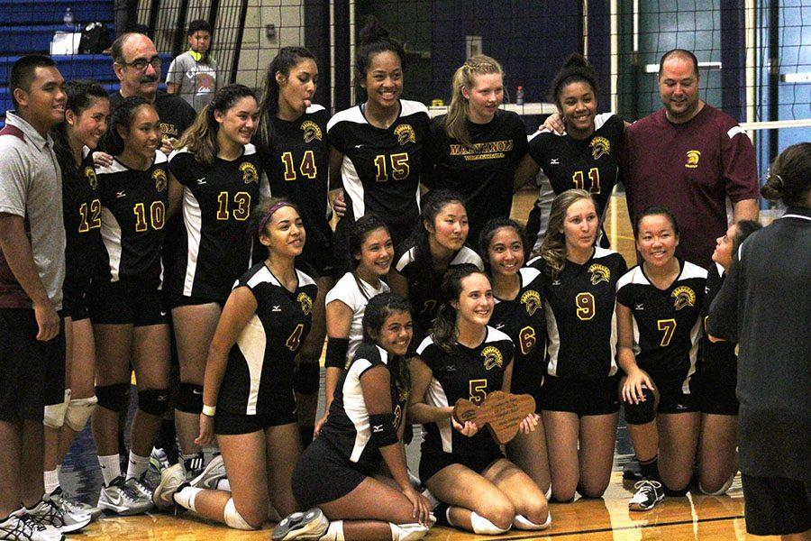 The tournament winners, the Maryknoll High School Spartans.