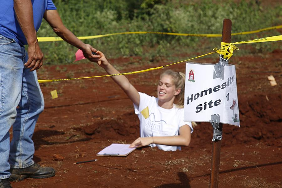Senior Nikki McGuire at the 2016 State Soil Conservation Contest. The four-person team from Kamehameha Maui won first place, and individual members swept the top three individual awards.