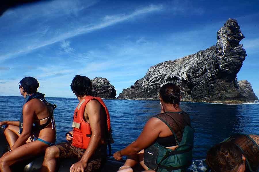 Kalani Quiocho and others travel to islands in Papahānaumokuākea.