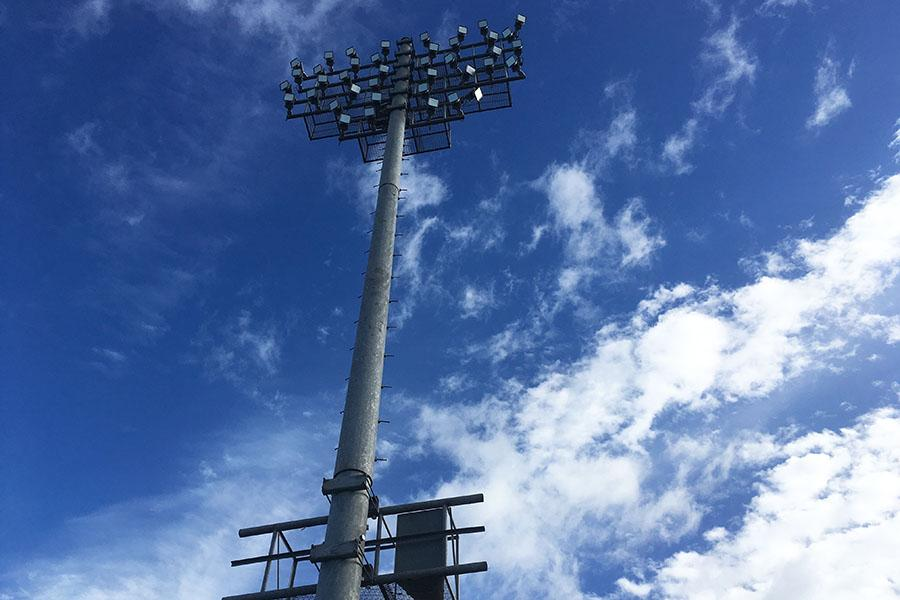 King Kekaulike High School installed new LED lights in their football stadium at the beginning of the 2016-17 school year. They look over the island of Maui and can be much brighter than the old ones.