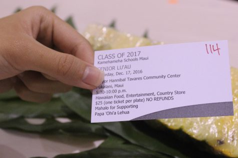 Guests purchased tickets in order to receive entry and food for the night at the senior lūʻau.