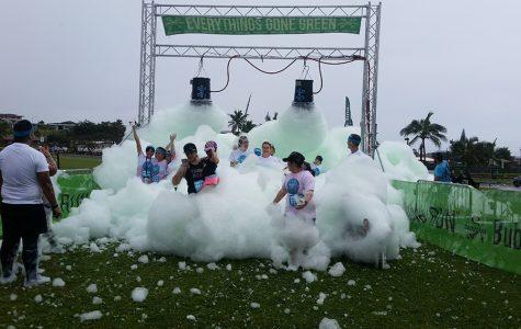 Bubbles make for good clean run