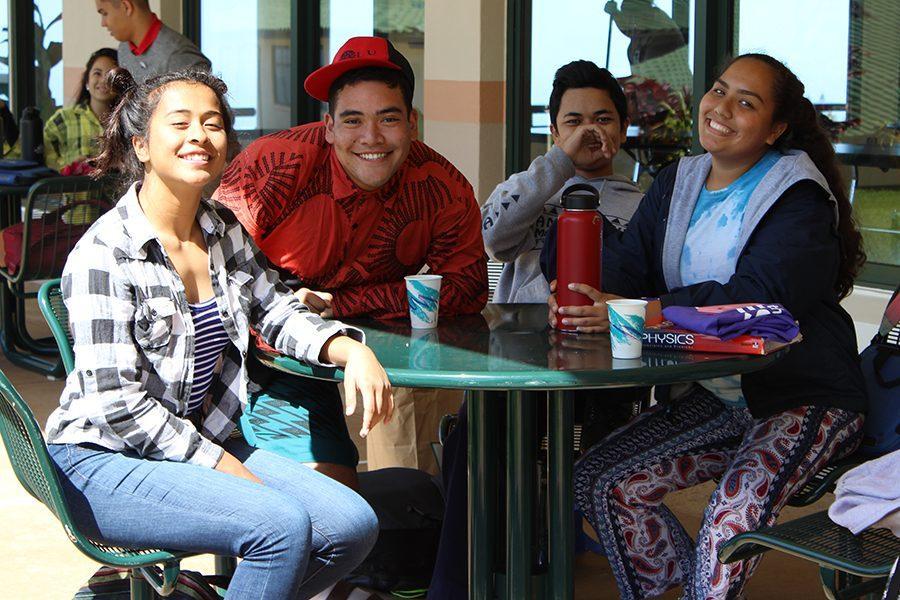 Delissa+Rano%2C+Tyson+Haupu%2C+Kayce+Mercado%2C+and+Ariana+Hurdle+dress+for+Wacky+Wednesday.