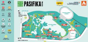 Map of Pasifika Festival Auckland from festival website.