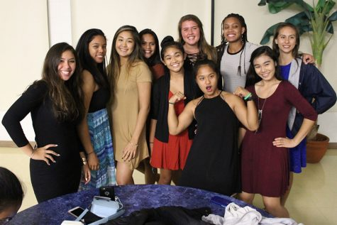 The girls posed with friends and family all night for group pictures. All the girls ditched the jerseys and wore elegant dresses to the occasion.