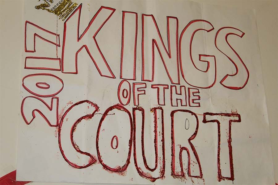 The+seniors+enjoy+senior+night+as+%22Kings+of+the+Court%22+echoing+their+class+theme+of+%22kings+and+queens.%22