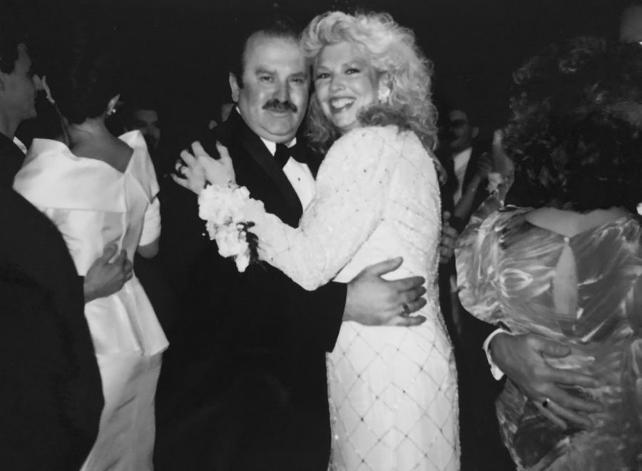 Leonore Bourdekas and George Bourdekas dance at their wedding in New York in 1972. George wooed Leonore with a pick-up line that actually worked.