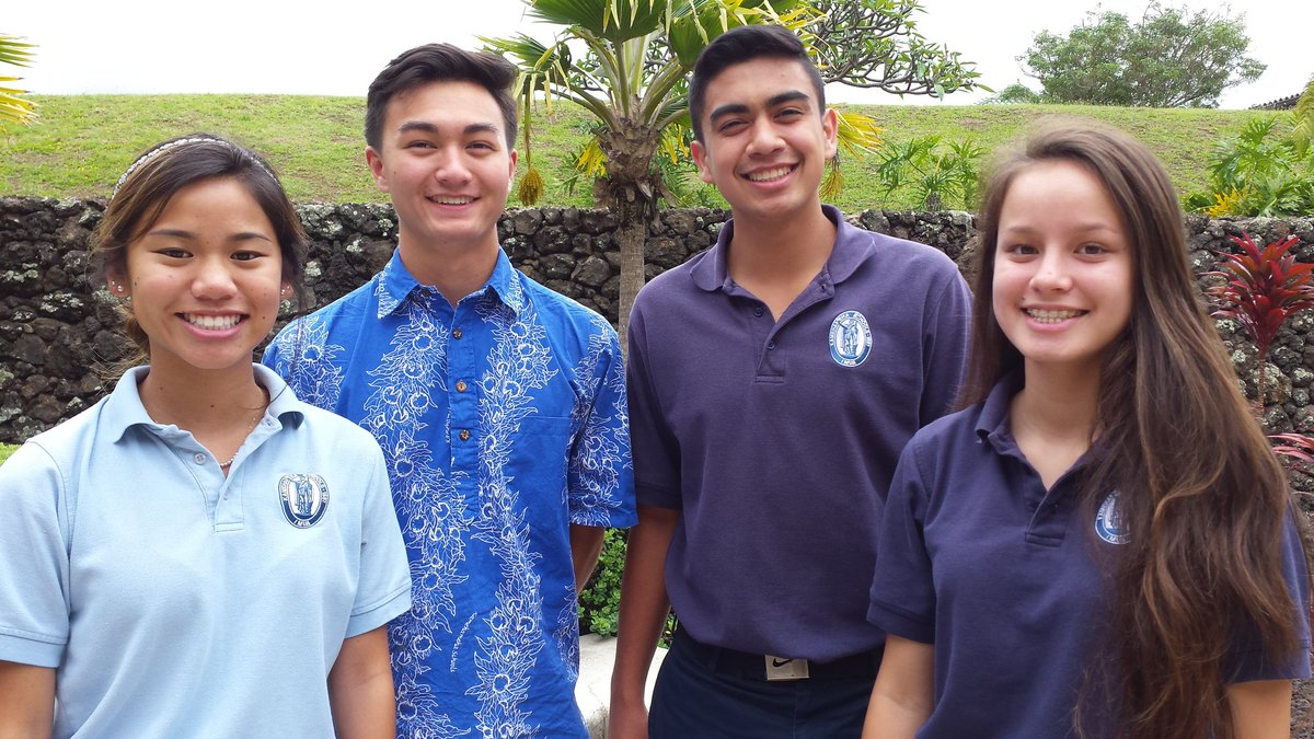 Seniors Kennedy-Kainoa Tamashiro, Hunter Worth, Austin Peters, and Kayla Tuitele earns the class of 2018 valedictorian titles. The four were awarded their positions based on their spectacular work in school.
