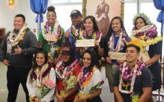 "Ten seniors, Kawehi Flores-Akiona, Jasmine Marie Corn, Niya Matutino, Sydnie ""Napua"" Gushiken, Kailani Kealoha, Kela Kauha'aha'a, Ashley Taylor Peralta, Daniel Kapua, Micah Au-Haupu, and Kimani Fernandez Roy all sign to their college of choice for their athletics. The athletes met at the Charles Reed Bishop library at Kamehameha Schools Maui and were greeted by family and friends."