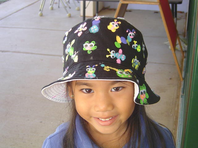 Kennedy-Kainoa Tamashiro attends the 100th day of school. She has been at Kamehameha Schools Maui since kindergarten.