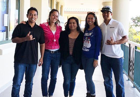 Lowen Okamoto, ʻEleu Novikoff, ʻIolani Antonio, Taylissa (Joaquin) Lehano, Evan Garces.